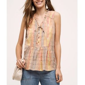 Anthropologie Holding Horses Faye Tank Top A346
